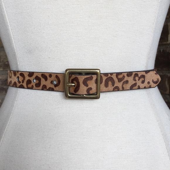 05e4fee52e Vintage Belt Leather Women's Leopard Print L
